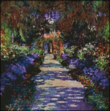 Monet Garden At Giverny Counted Cross Stitch Kit 12x12""