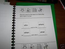 Cut & Paste Sentence Recall wh CD autism speech therapy