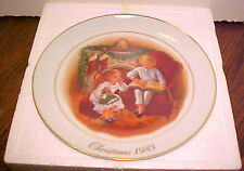 "New Vintage 1983 Avon ""Enjoying The Night Before Christmas"" #3 In Series,Plate"