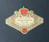 Etiquette SAVON DE TOILETTE SUPERFIN soap Perfume Label French