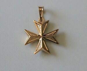 Knights of Malta Cross Silver 925 Maltese cross filigree pendant handmade in Malta Malta gifts and souvenirs 1.50 cm  Croce di Malta