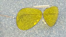 Willson Silver Yellow Lens Mother of Pearl Sweat Bar Shooting Glasses Sunglasses
