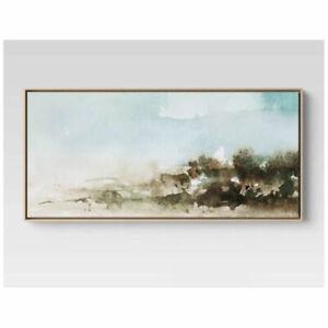 "47"" X 24"" Watercolor Landscape Framed Canvas"