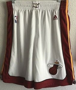 Miami Heat NBA Adidas Authentic On-Court Pro Cut Team Issued Men's L Game Shorts
