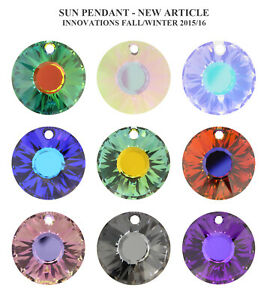 Genuine SWAROVSKI 6724 Crystal Sun Pendant * All Sizes & Colours