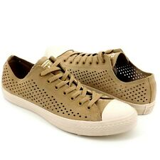 Converse Chuck Taylor Khaki Perf Perforated Suede Low Top Sneaker Shoes 10.5