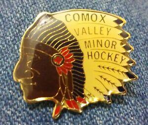 Comox Valley Minor Hockey Chiefs pin badge