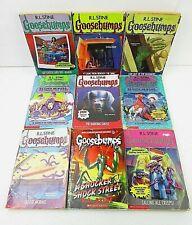 Vintage Lot of 9 Goosebumps Paperbacks R.L. Stine    10B