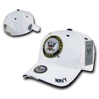 White United States Navy US Navy OFFICIALLY LICENSED Baseball Cap Hat