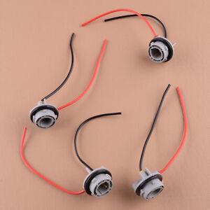4pc 1156 7506 BA15S Turn Signal Light Socket Harness For LED Incandescent Bulbs