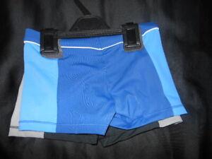 Bnwts Boys Swimming Trunks Black/Blue Swim Shorts Swimwear 5,7 Years