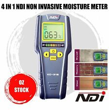 4 IN1 Moisture Meter Humidity LCD Tester Non Inductive Moisture Meter Hygrometer