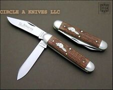 GREAT EASTERN CUTLERY KNIFE- TIDIOUTE #54 BIG JACK - CHERRY WOOD - MADE IN USA