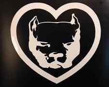 "pit bull sticker *E376* heart 6"" decal apbt Amstaff American Bully Pitbull"