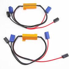 2 Pcs H1 H3 LED Headlight DRL Bulbs No Error Load Resistor No Flickering Decoder