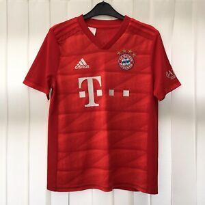 Adidas Bayern Munich 2019-20 Kids Youth Football Home SHIRT Size 13-14 Years Red
