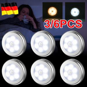 3/6STK 6LED Nachtlicht mit Bewegungsmelder Sensor Lampe Nachtleuchte Wandleuchte
