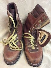 Vintage 70s Leather Distressed Hiking Boots work ride Taiwan 11D Thinsulate play