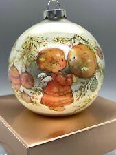 Hallmark Mary Hamilton Heavenly Days Glass Ball Ornament 1975 In Box Excellent!