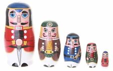 Amor Christmas Russian Wooden Matryoshka Nutcracker Wooden Nesting Dolls Toy Set
