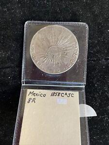 Mexico 1858 CA JC 8R Silver Coin
