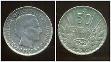 URUGUAY  50 centesimos  1943  ARGENT