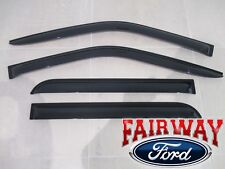 17 thru 19 Super Duty OEM Ford Smoke Window Deflector Rain Guard 4-pc CREW CAB