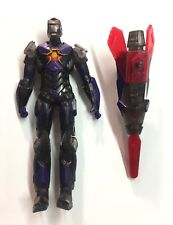 """Marvel Universe Iron Man Armored Avenger Sonic Storm Armor 2011 Complete 3.75"""""""