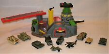 VINTAGE MICRO MACHINE MILITARY PLAYSET 10 VEHICLES TANKS TRUCKS PLANE HELICOPTER