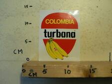 STICKER,DECAL COLOMBIA TURBANA BANANEN