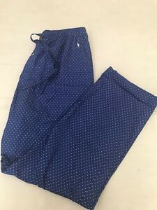 NWT POLO RALPH LAUREN MEN' LOUNGE PANT STRETCH ABLE WAIST DOTS ALL OVER  SZ S_L
