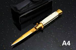 Italian Godfather Knife Mafia Folding 440C Blade Stainless Steel Tactical Claw