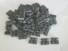 Lego 2540# 50x Platte Plättchen 1x2 mit Griff grau neu dunkelgrau 10188 10179