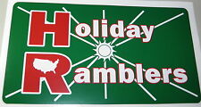 """HOLIDAY RAMBLERS RV Decal 5"""" x 9"""""""