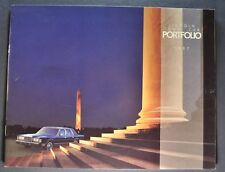 1987 Lincoln Town Car Brochure Signature Series Cartier Limousine Excellent Orig