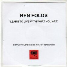 (EO254) Ben Folds, Learn To Live With What You Are - 2006 DJ CD