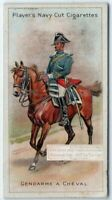 French Municipal Guard Police On Horse 100+ Y/O Trade Ad Card