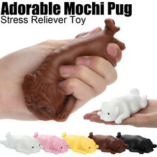 14cm Squishyies Mochi Pug Puppy Squeeze Healing Kawaii Stress Reliever Soft Toy