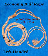 """""""Economy"""" Bull Rope, Left-Hand, 9-Plait handhold-choice of tail sizes-rodeo-Pbr"""