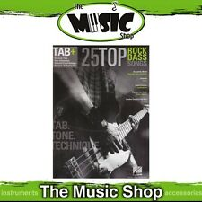 25 Top Rock Bass Songs Guitar Tab Plus - Music Book