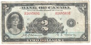 Canada 2 Dollars 1935 P-40