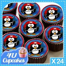 24 Comestible Magdalena Hada Cake toppers decorations Union Jack Euro Boda Real