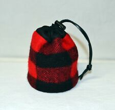 Gold Miner Pouch recycled vintage Filson Blanket drawstring bag red black plaid