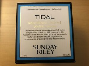 NIB Sunday Riley TIDAL Brightening Enzyme Water Cream 1.7oz 50g NEW IN BOX