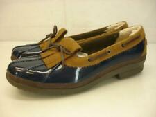 Women's 10 M UGG Haylie UGGpure Lined Boat Shoes Navy Blue Patent Leather Loafer
