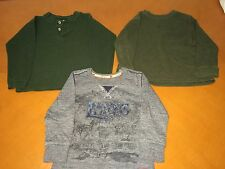 Lot of 3 Baby Boys Toddlers Long Sleeve Shirts Green Solid Levi's Grey Size 4T