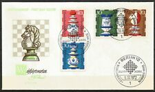 Germany Berlin 1972 FDC - Faience Chessman Knight Rook Queen King