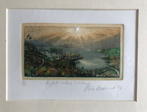 "PIERS BROWNE b1949 Limited Ed ETCHING ""Rydal Water October"" 23/50"