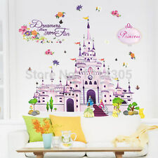 Removable Princess Castle Wall Sticker Wall Decal Kids Room Home Decor Vinil Art