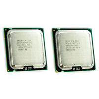 Lot of 2 Intel Core 2 Duo E7500 2.93GHz 3MB 1066Mhz LGA775 SLGTE CPU Processor
